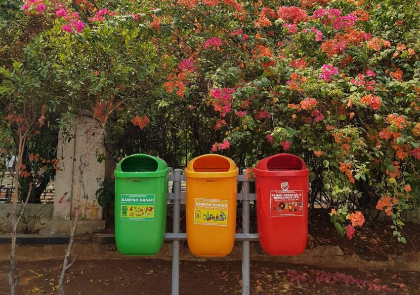 recycling bins for reducing waste